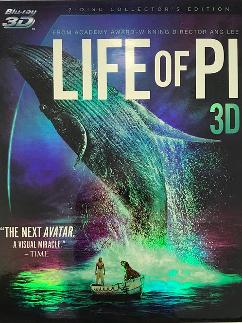 Life Of Pi 少年Pi的奇幻漂流 2D + 3D Blu-Ray (2012) (Hong Kong Version)