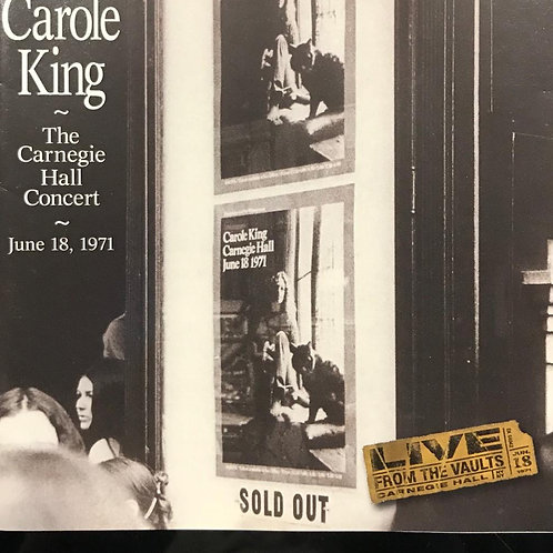 Carole King ‎– The Carnegie Hall Concert
