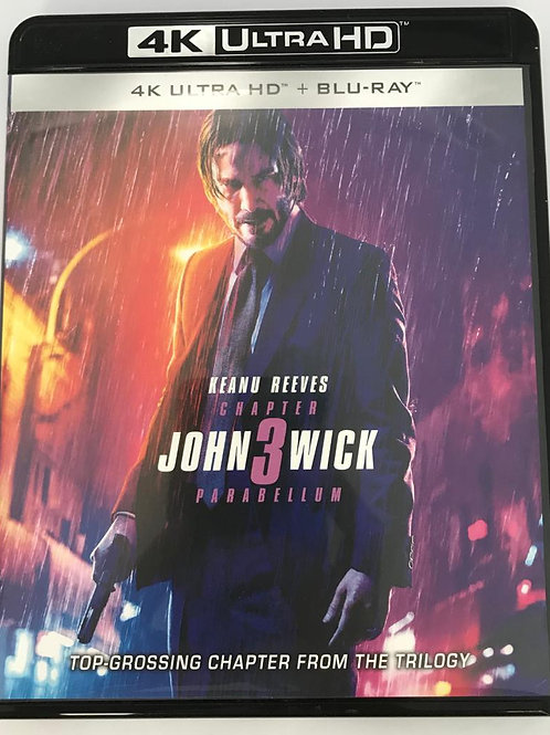 John Wick Chapter 3 : Parabellum 殺神John Wick 3 4K UHD + Blu-Ray (HK Version)