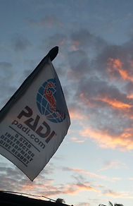 PADI flag at Tof Scuba