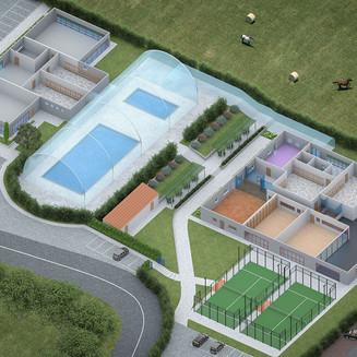 Fitness center 3d plan