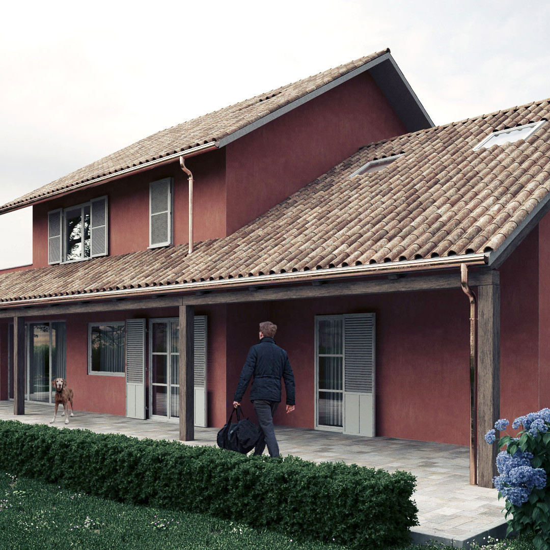 Countryside villa render