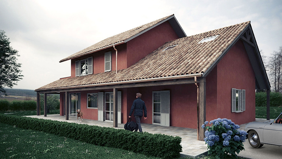 Counrtyside villa render
