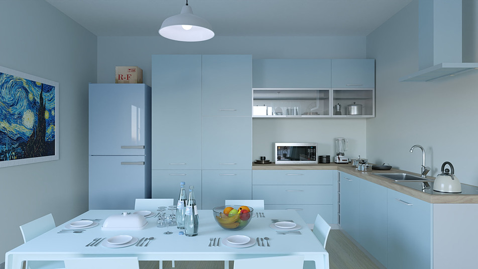 Blue kitchen Cycles