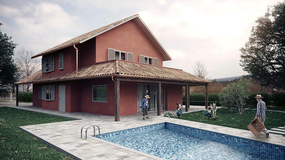 Counrtyside villa pool view