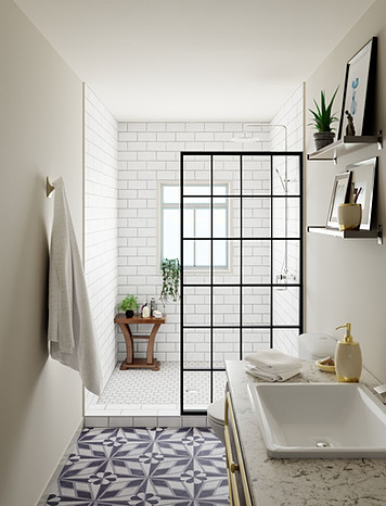 Retro style bathroom