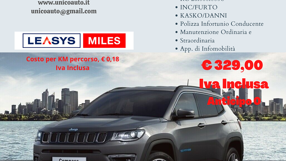 JEEP COMPASS 1.3 T4 190CV LIMITED 4Xe AUTOMATICA
