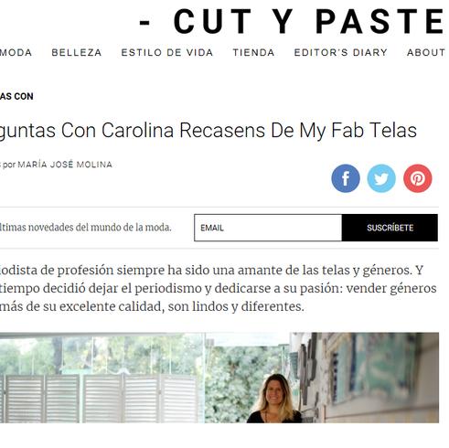 Entrevista Cut y Paste