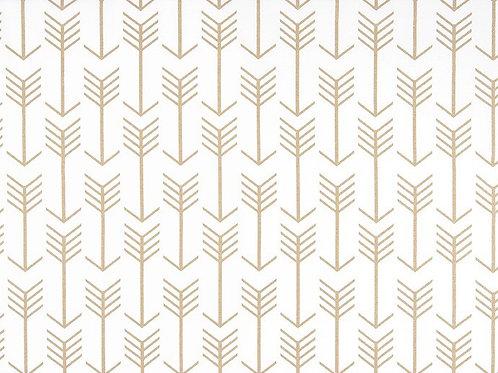 Retazo flechas doradas 1,40x0,13 mts