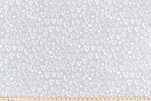 Retazo corazones gris 1,40x0,21