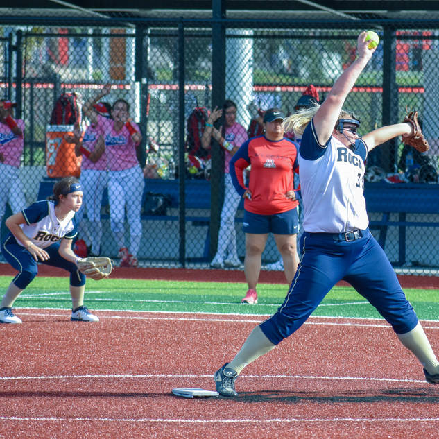 Kady Olsen Pitching against the Corona Angels