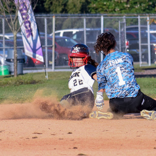 Jenna Morrison Steals Second Base