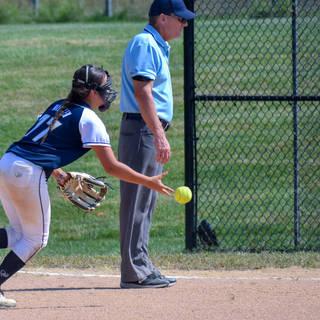 Ava Mahnken Flips to First Base