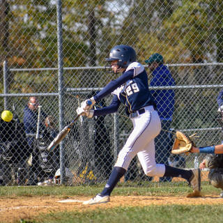Katie Reed Gets a Hit Against the Delco Diamonds