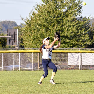 Angelina Benitez Catches a Fly Ball