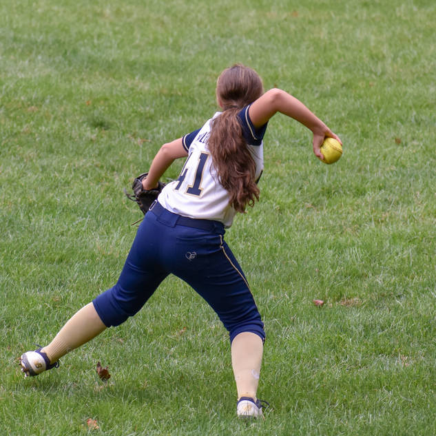 Abbey Makes a Play in Left Field