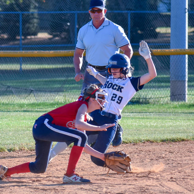 Katie Reed Slides Safely Into Second Base