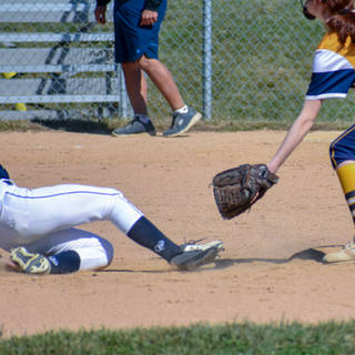 Ava Beal Steals Second Base Against