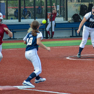 Kady Throws to Ava Beal for the Out