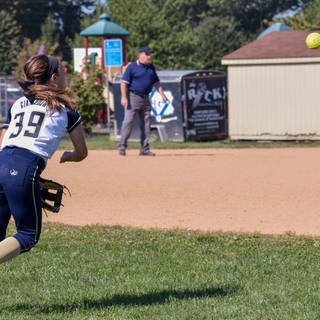 Alayna Giampolo Throws the Ball from the Out Field
