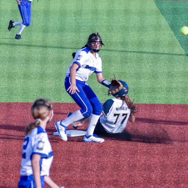 Ava Mahnken Steals Second Base