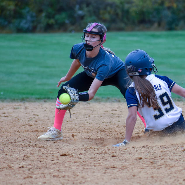 Alayna Giampolo Steals Second Base