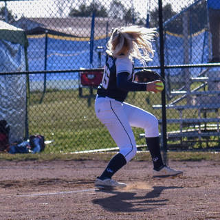 Emma Marchese Throws to Frist Base