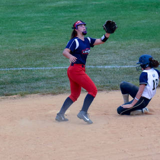 Ava Beal Steals Second Base