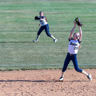 Katie Reed Catches a Line Drive