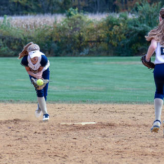 Helen Takes it Herself at Second Base