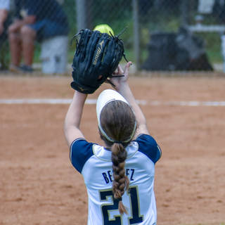 Angelina Catches a Fly Ball in Center Field