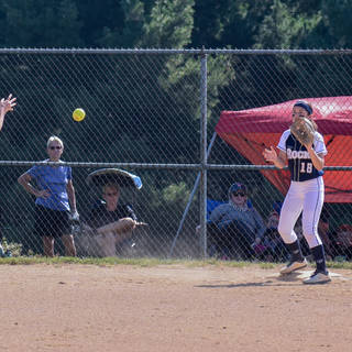 Katie Flips to Ava for the Out at First