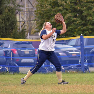 Kady Olsen Tracks a Fly Ball in Right
