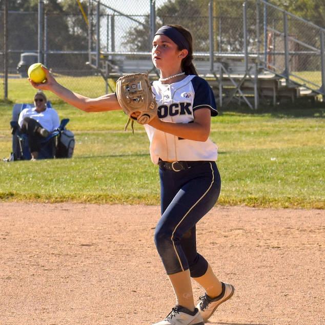 Ava Beal Makes a Play at Second Base
