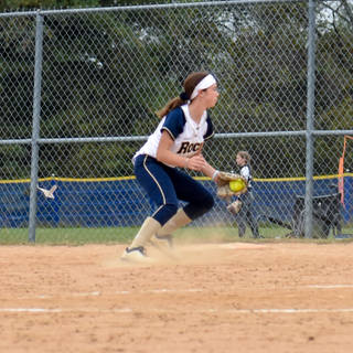 Ava Beal Takes a Ground Ball at First