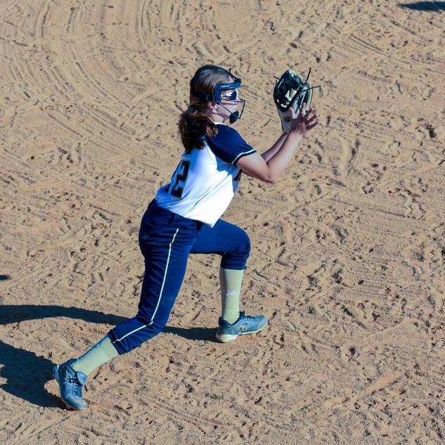 Jenna Morrison Makes a Play at Third Base