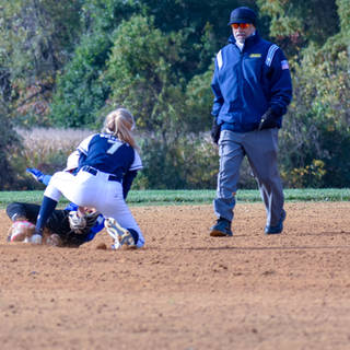 Helen Tags the Delco Diamonds Base Runner