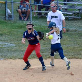 Helen Beats the Throw to First