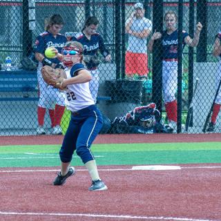 Jenna Morrison Playing Third Base at Diamond 9