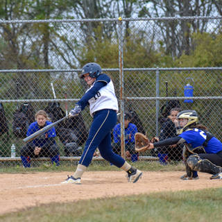 Violet Hits a Long Fly Ball to Left Field