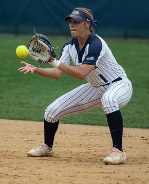 Angela Giampolod plays softball at Villanova an helps coach the Newtown Rock 14U Premier team