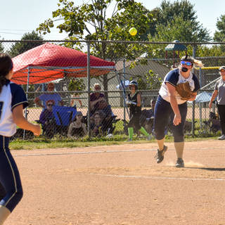 Kady Olsen Throws to Ava for the Out