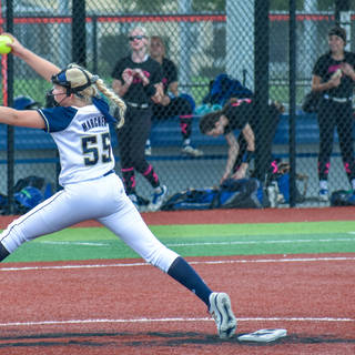 Emma Marchese Pitching against the South East Intensity.