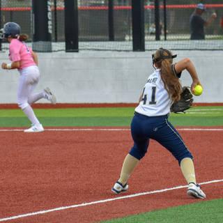 Abbey Valente Makes a Play at Third Base