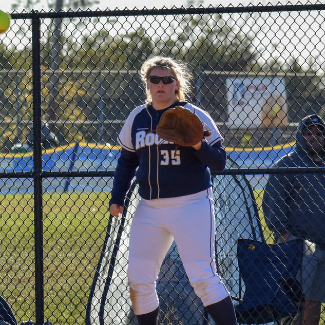 Kady Olsen Waiting for the Ball at First