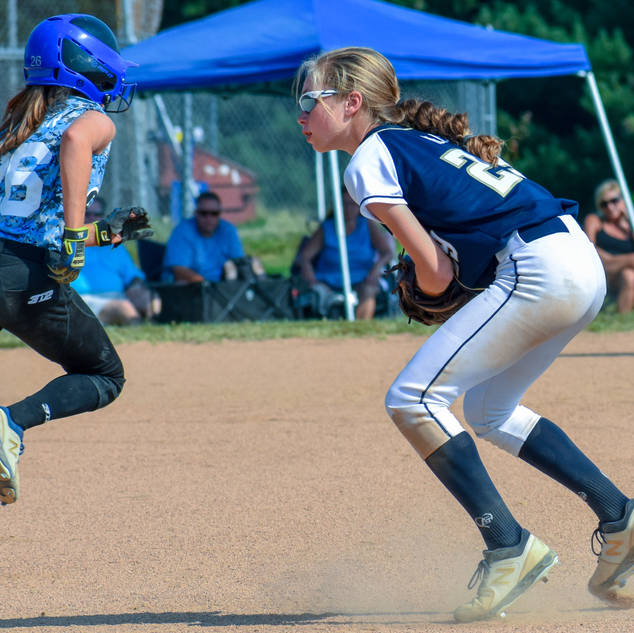 Katie Reed Makes a Play at Second