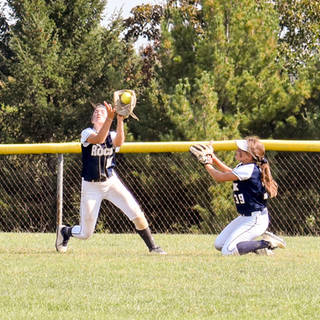 Ava Beal Makes the Catch in Deep Left Center