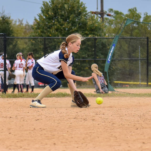 Katie Reed Scoops Up a Grounder