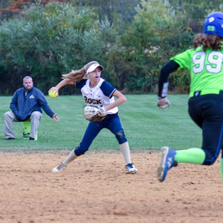 Helen Woloshyn Makes the Play at Second