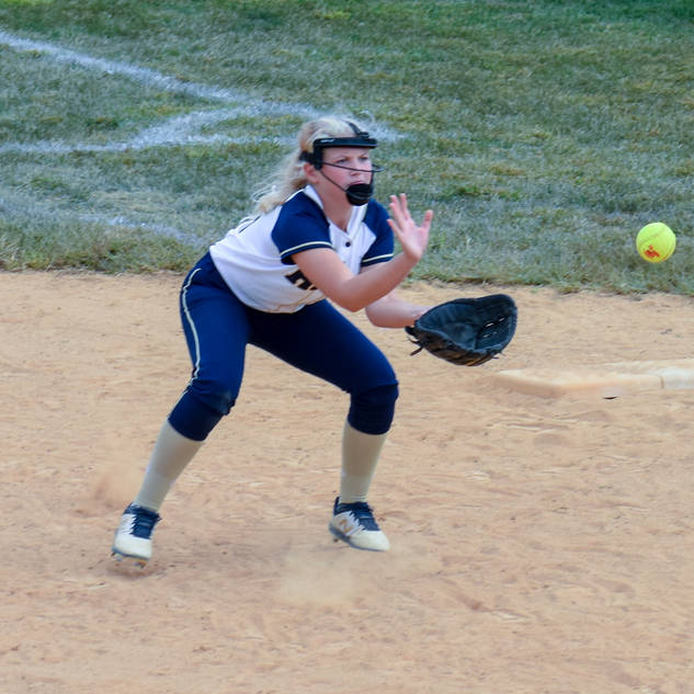 Emma Marchese Makes a Play at First Base